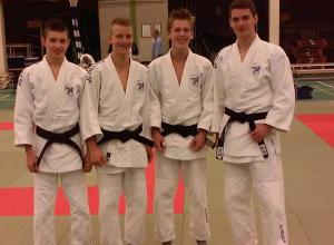 Drie Judoka's van JC Helden geslaagd voor hun eerste Dan